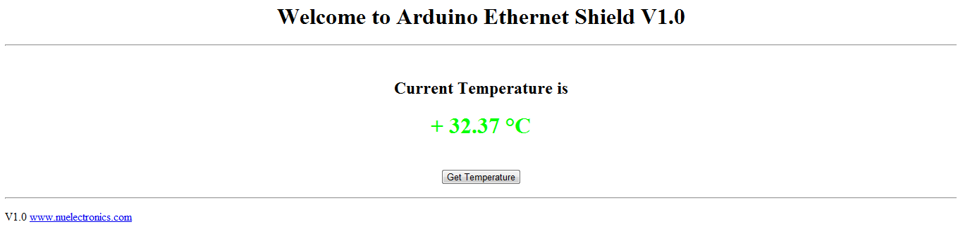 Read temperature online! (from your ENC28J60 module with DS18B20)