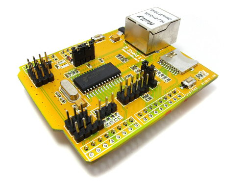 ENC28J60 Arduino IE Ethernet shield (Includes POE and SD Card holder)4