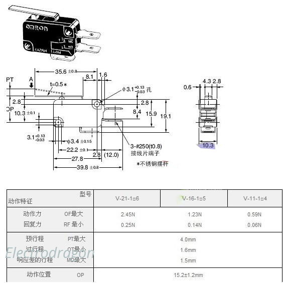 SPDT Omron V 152 1C25 Limit Sensor Switch omron limit switch wiring diagram gandul 45 77 79 119 Open Gate at soozxer.org