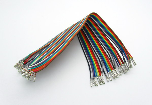 Raw Dupont Cables with metal insert 40P