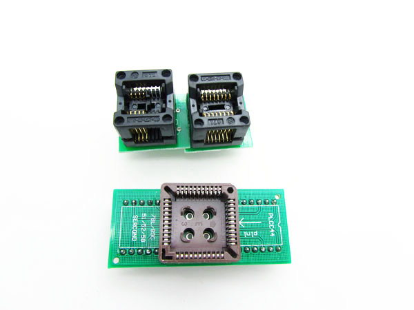 ICs Chip Socket Adapter (SOP8 SOP16 PLCC44) from SMD to DIP