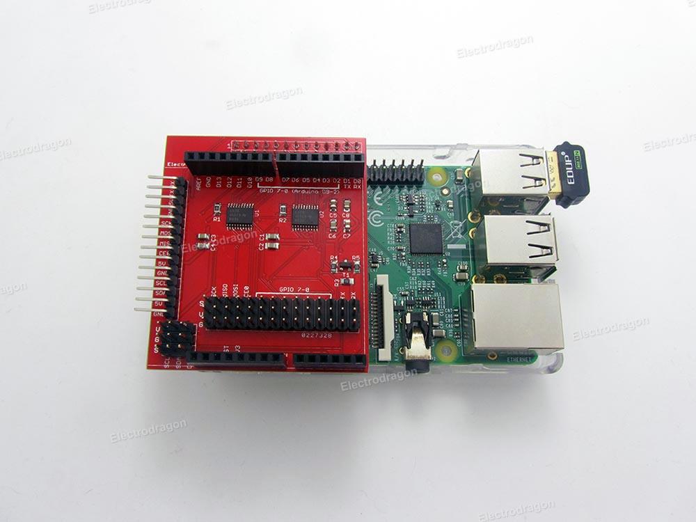 Rpi gpio shield arduino layout v logic electrodragon