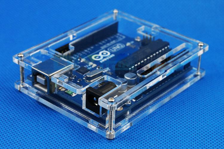 Arduino uno r transparent case electrodragon